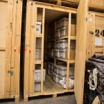 Archive Container with Shelving 250 Cubic Ft